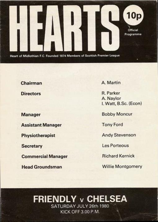 1980072601 Chelsea 0-1 Tynecastle