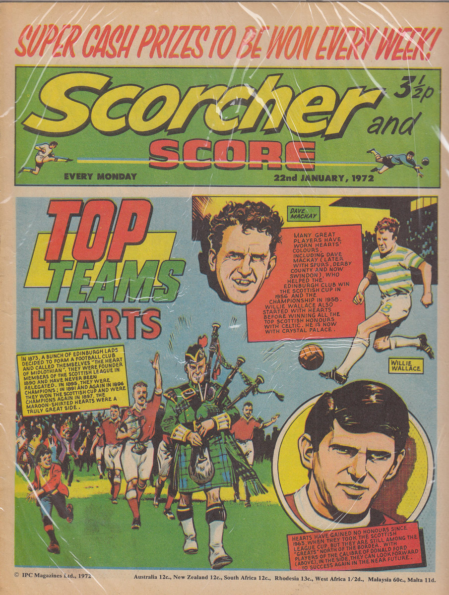 23 Jan 1972 Scorcher and Score comic featuring Hearts